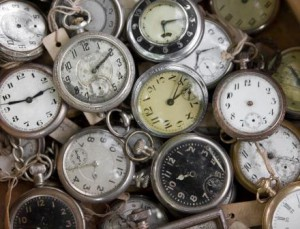 Pocket watches in a bunch