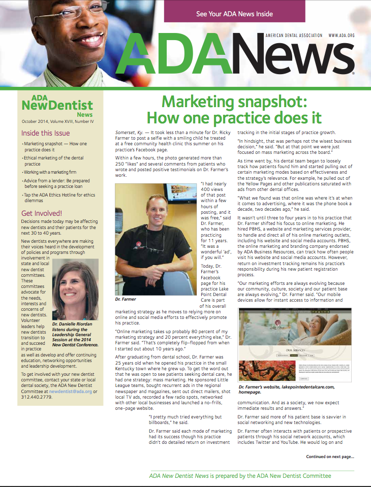 October 2014 New Dentist News