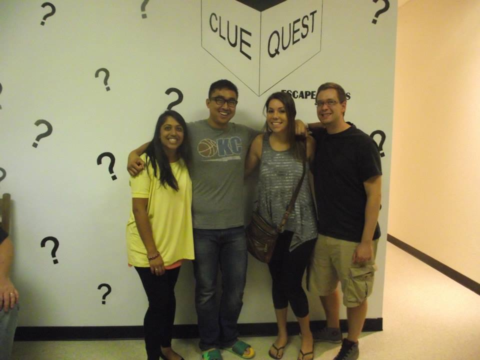 "Dr. Hobart did an ""escape the room"" in Oklahoma City to escape the torrential downpour outside."