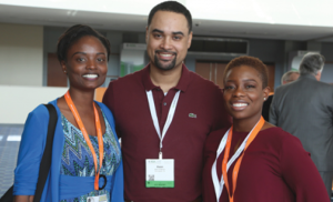 Networking: From left, Drs. Naureen Ridge, Keon Anderson and Erin Williams network during the awards luncheon of the 2015 New Dentist Conference. Photos by EZ Event Photography