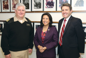 Visit: Capt. Sean C. Meehan, a dentist and associate dean of the school, with Drs. Carol Gomez Summerhays and Jeffrey Cole at the Naval Postgraduate Dental School in Bethesda, Md.