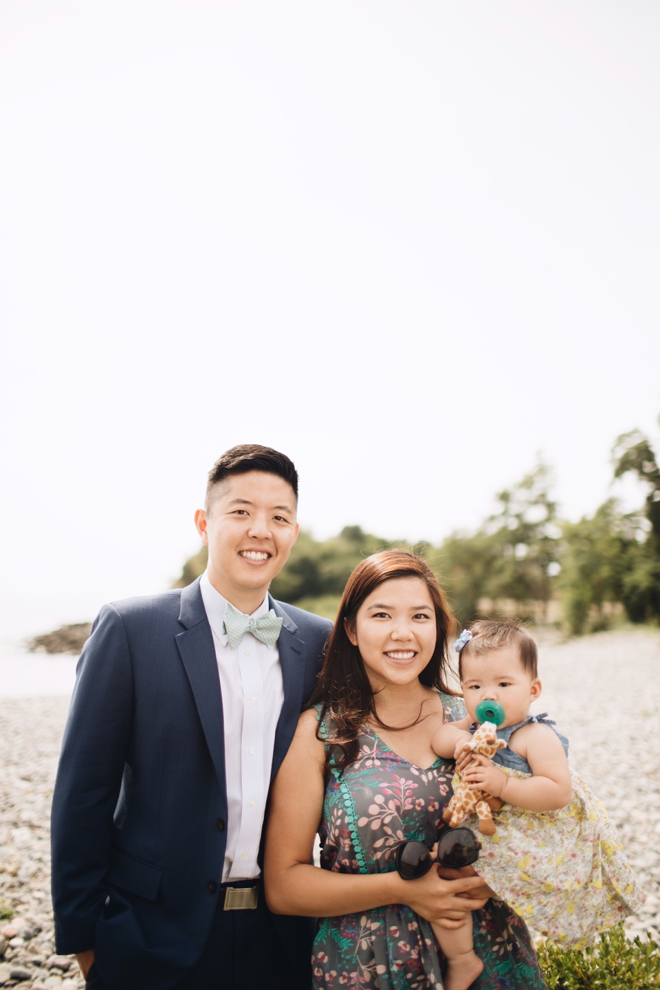 Dr. Hubert J. Park, a pediatric dentist in the greater Boston area, poses for a photo with his wife, Amy, and daughter, Alina.