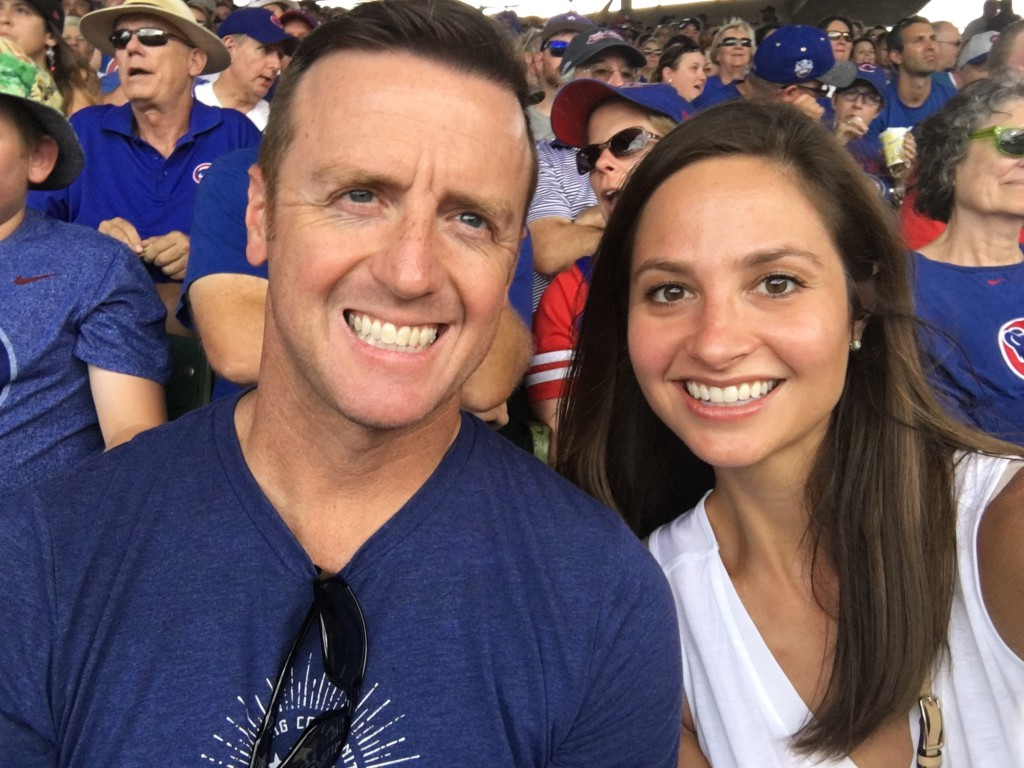 Dr. Annie Jones, an endodontist in Nashville, attends a Chicago Cubs game at Wrigley Field with her boyfriend, Drew.