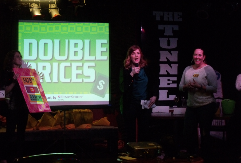 Price Is Right: The Greater St. Louis Dental Society hosts a spoof of the popular game show as part of an effort to engage new dentists in a fun and educational way. Vendors donated more than $2,000 of products and prizes for the event.