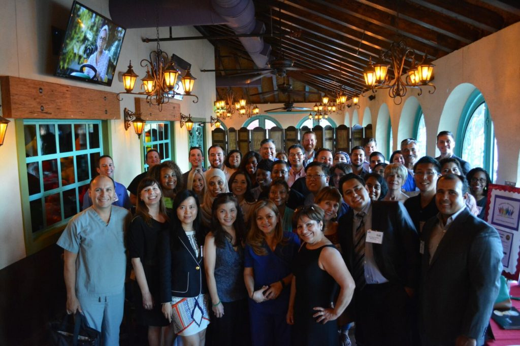 Fiesta: Houston-area dentists and staff from the Greater Houston Dental Society pose for a photo during the May 25 Diversity Committee Fiesta, a social event organized by the GHDS Diversity Committee. About 60 dentists attended the celebration which welcomed members from the various dental groups in Houston.