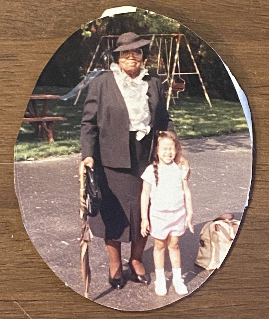 Photo of Dr. Simpson and Grandma Vi
